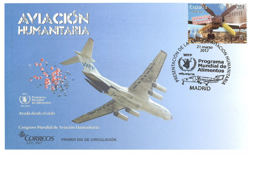 CORREOS presenta un sello dedicado a la Aviación Humanitaria